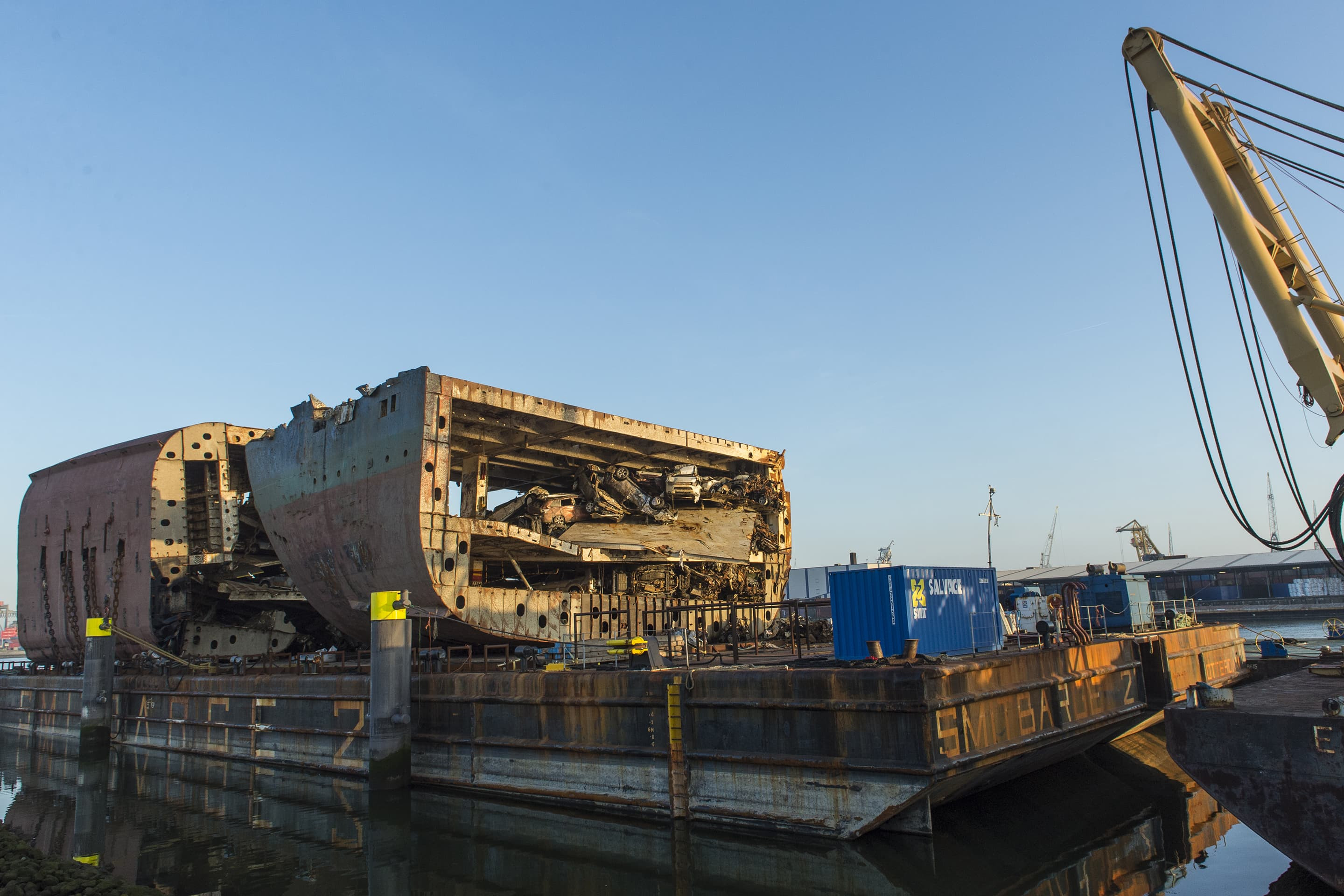 Two wreck sections on Smitbarge 2