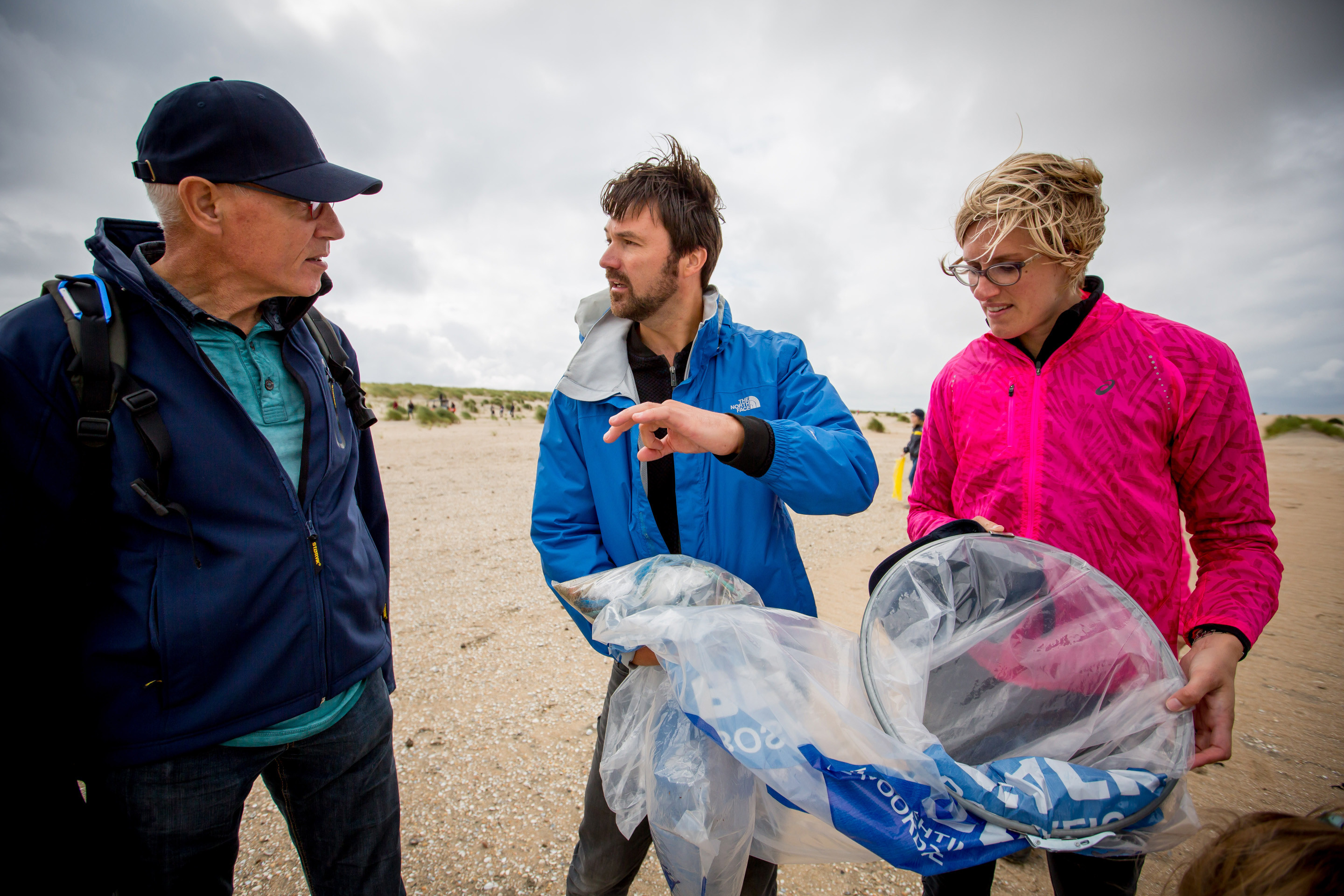 North Sea Foundation director Floris van Hest (middle) during one of the stages