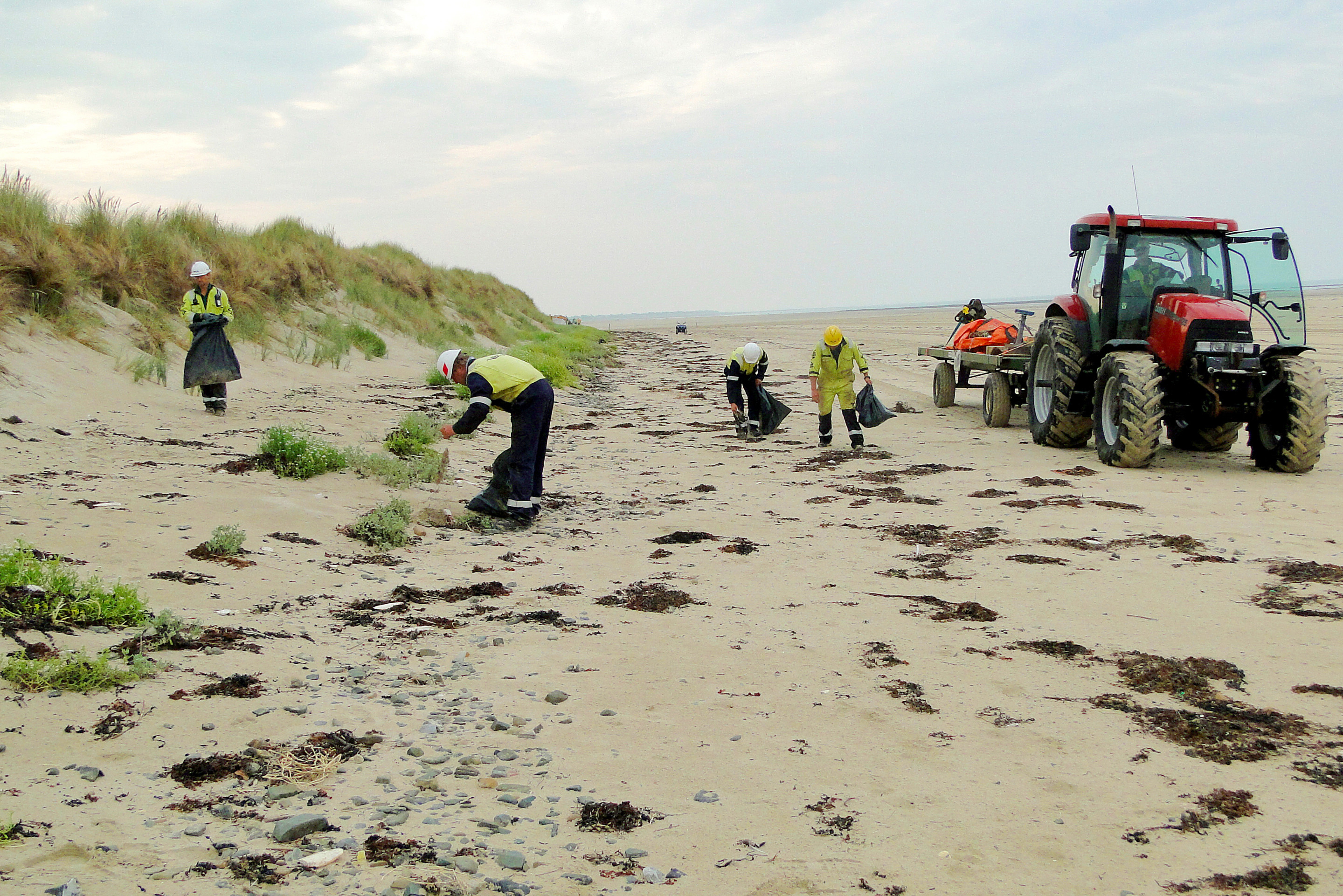 Spontaneous beach cleanup by VBMS colleagues in Normandy, France