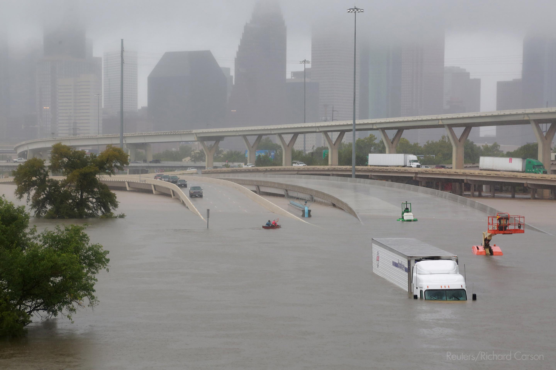 In September 2017 Hurricane Harvey caused severe flooding in Houston, US