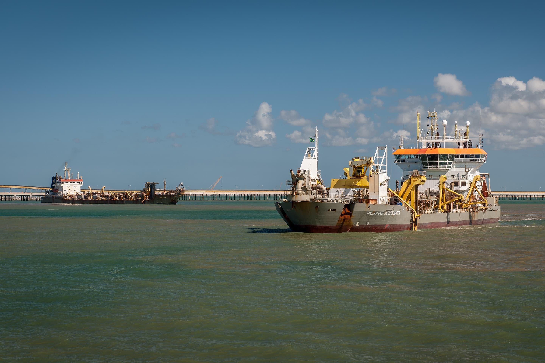 Boskalis trailing suction hopper dredgers at work