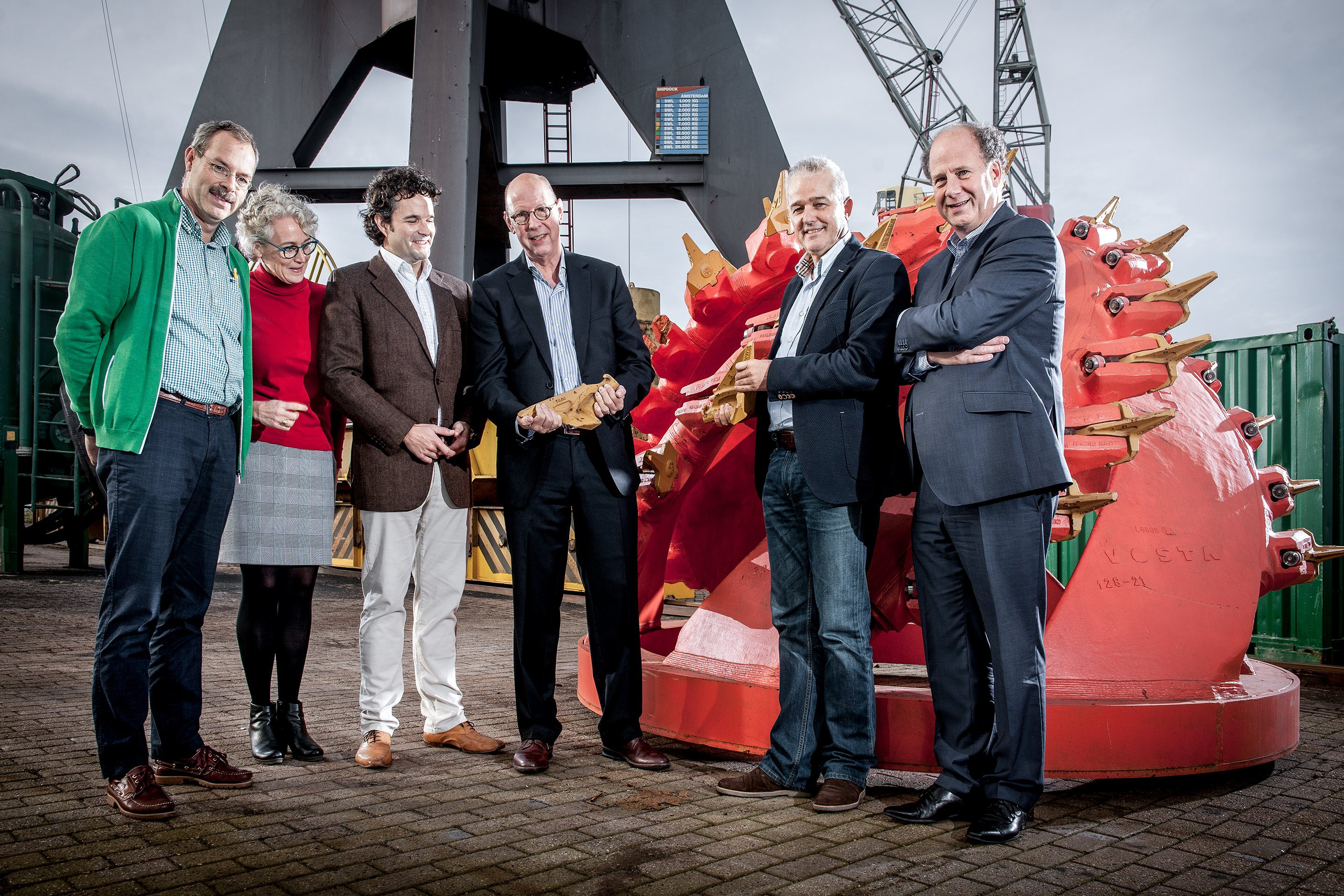 From left to right: Klaas Wijma, Monique de Klein, Georges Teheux, Fred Dekker, Arie Kamsteeg and Joost Rijnsdorp