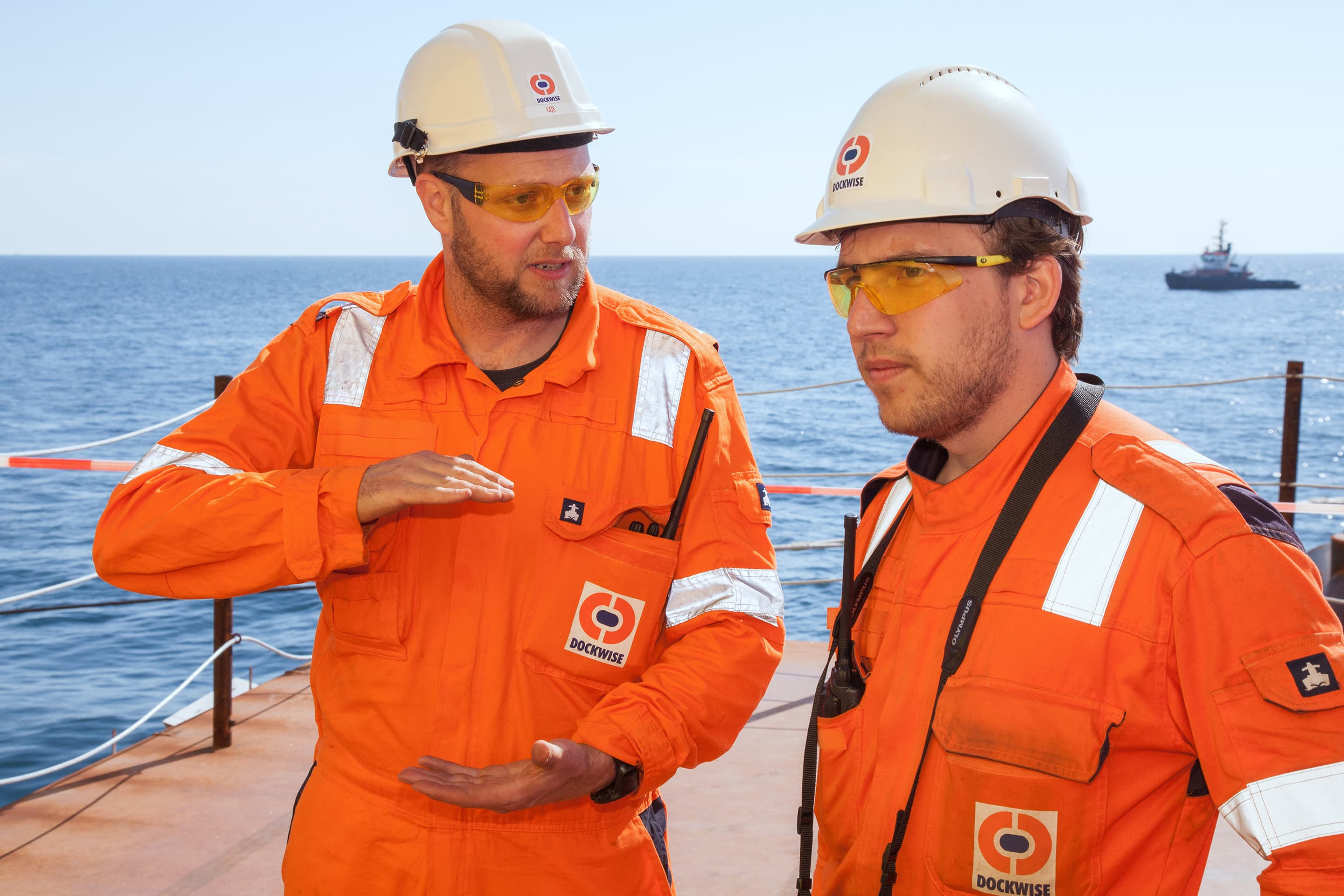 Dockwise colleagues at work
