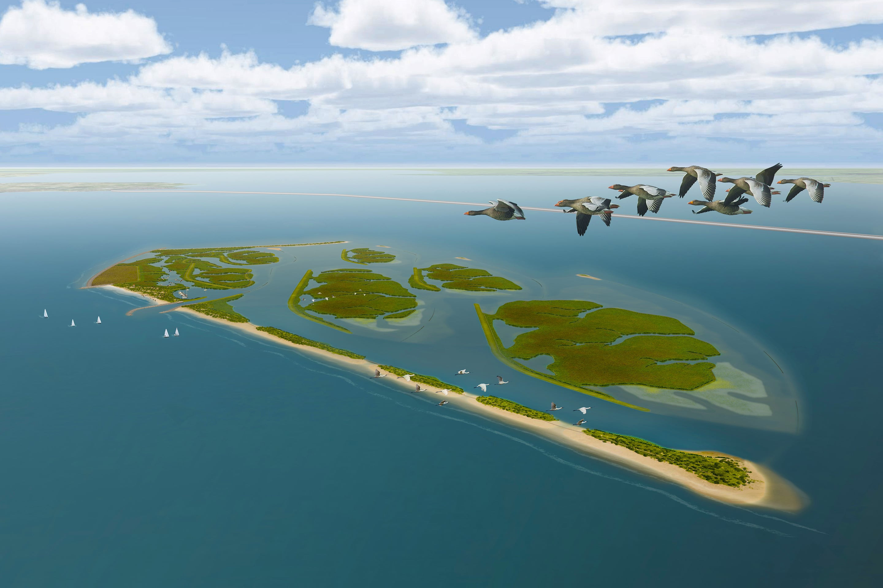 Artist impression of the Marker Wadden project
