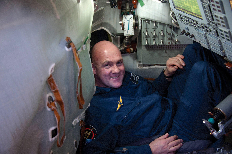 In the Soyuz capsule