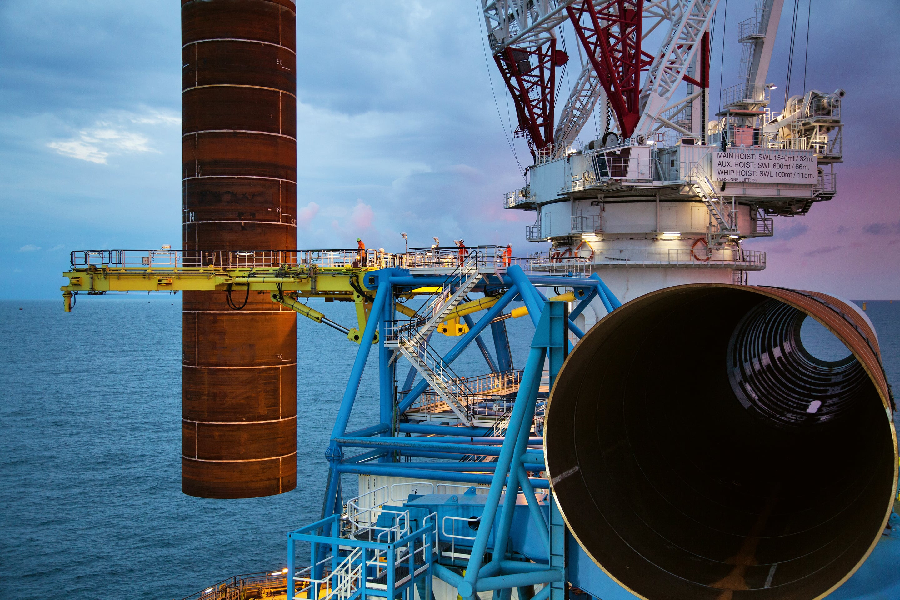 XXL monopile installation for the Veja Mate offshore wind farm
