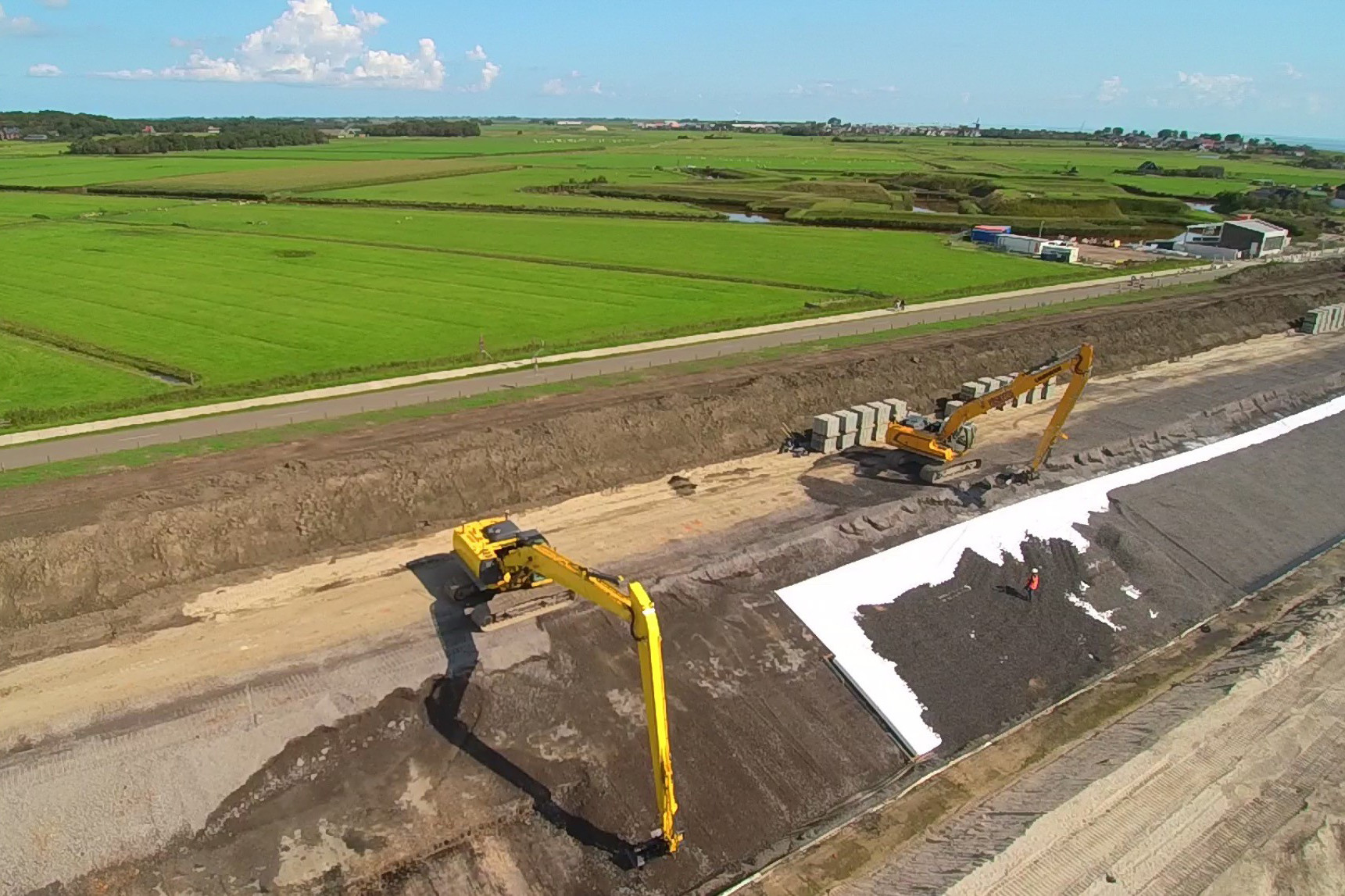 Dike upgrade activities on the island of Texel
