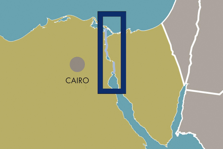Suez Canal map, Egypt